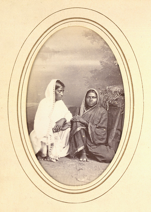 Women of the [?]Mahar caste (Bombay).
